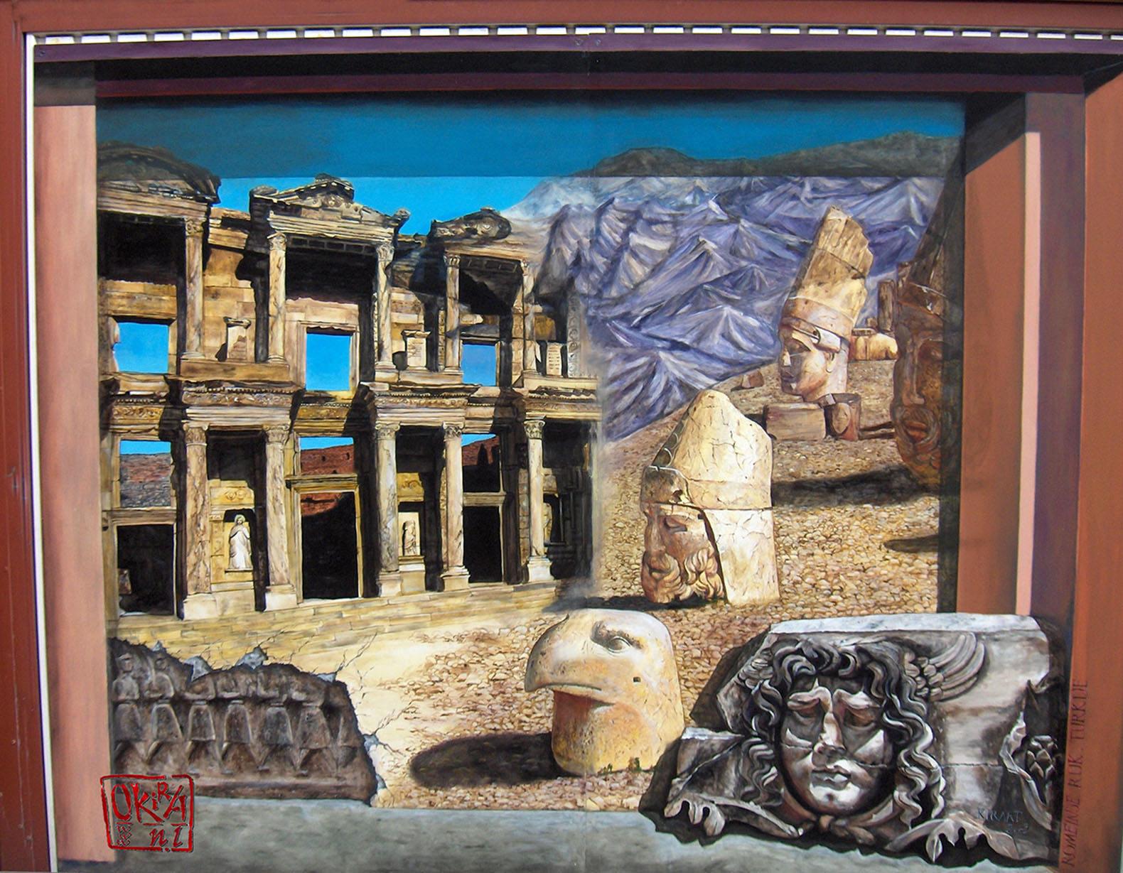 murals my blog trompe l oeil mural roman empire turkey by kira outembetova