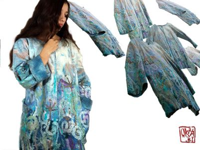 Felt Art By Kira Outembetova. ` A Secret Sky` Jacket