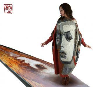 Felt Art By Kira Outembetova. ` Amazement ` Dress