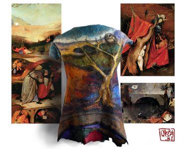 Felt Art By Kira Outembetova. ` Boschanalia ` Sleeveless Jacket, Back.