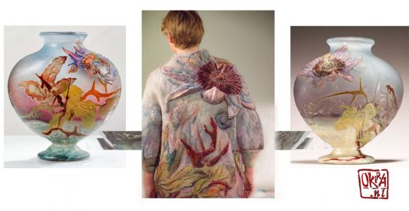 Felt Art By Kira Outembetova. ` Galle Vase ` Manto