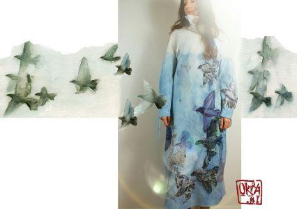 Felt Art By Kira Outembetova. ` Lightness Of Flying ` Dress