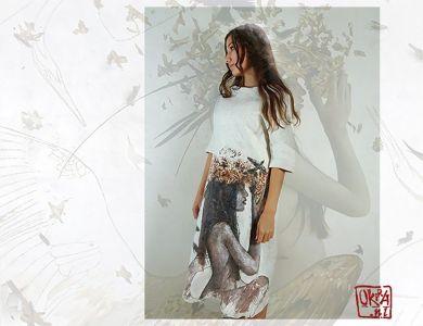 Felt Art By Kira Outembetova. ` Nest On My Head ` Dress