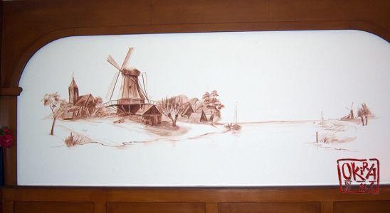 Mural ` Bambul `  By Kira Outembetova.