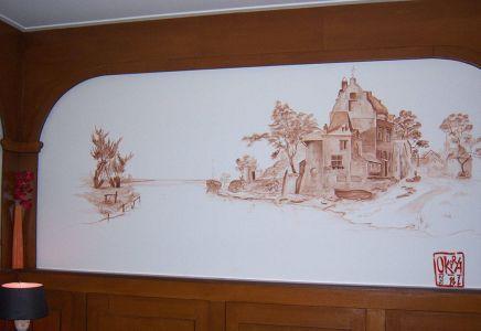 Mural ` Bambul `  By Kira Outembetova
