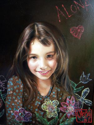 Portrait Of A Daughter By Kira Outembetova