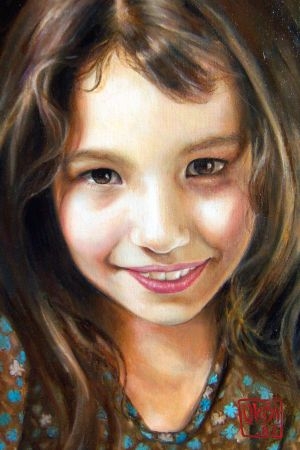 Portrait Of A Daughter By Kira Outembetova (fragment)