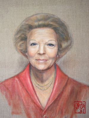 Portrait Of Princess Beatrix By Kira Outembetova,