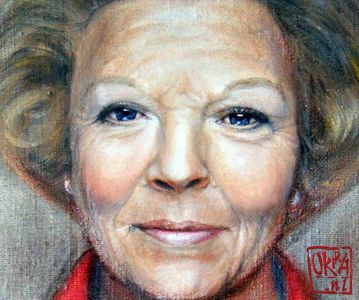Portrait Of Princess Beatrix By Kira Outembetova (fragment)
