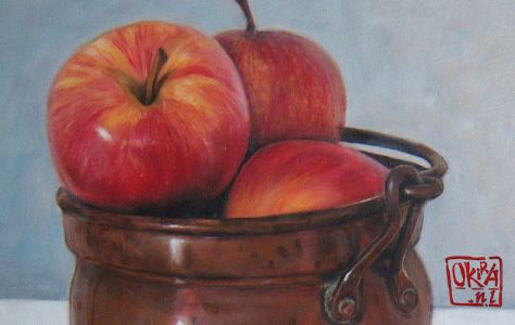 Still Life With Apples By Kira Outembetova,