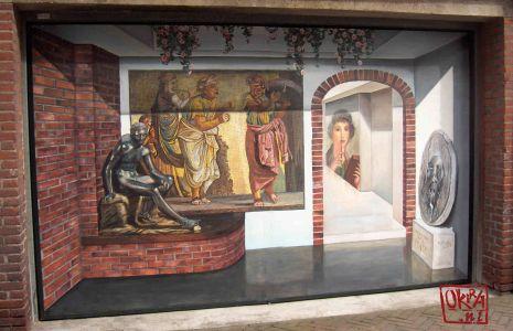 Trompe L`oeil Mural  ` Roman Empire. Itali `  By Kira Outembetova.