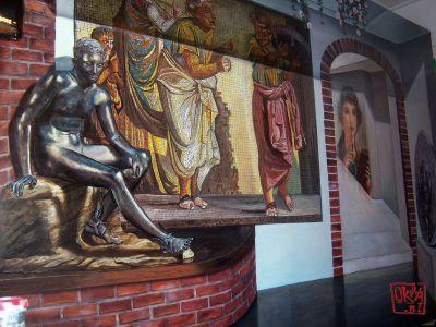 Trompe L`oeil Mural  ` Roman Empire. Itali `   By Kira Outembetova.jpg Fragment