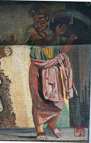 Trompe L`oeil Mural  ` Roman Empire. Itali `  By Kira Outembetova.jpg Fragment Pompeii