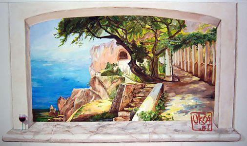 Trompe L`oeil Mural ` Amalfi ` By Kira Outembetova